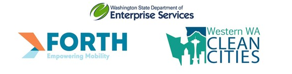 Logo for DES, Oregon's Forth, and Western WA Clean Cities
